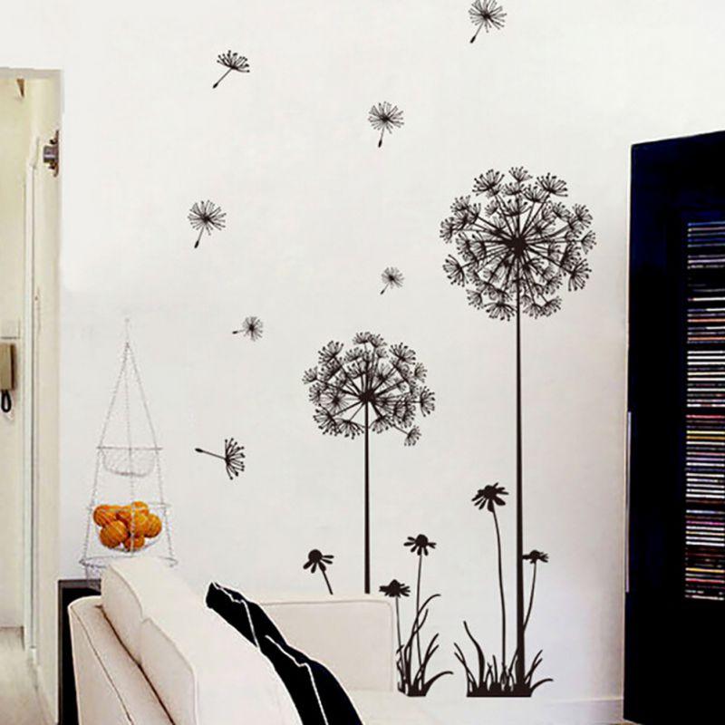 Home Decor DIY Art Vinyl Quote Dandelion Pattern Removable Wall ...