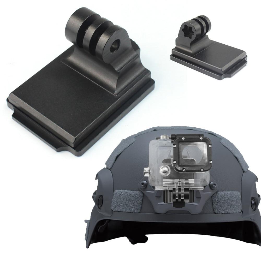 For Gopro Sports Camera Helmet Aluminum Fixed Mount for Gopro HD HERO 4 3+ 3 2 1 SJ4000 SJ5000 SJ6000 NVG Mount F06678 все цены