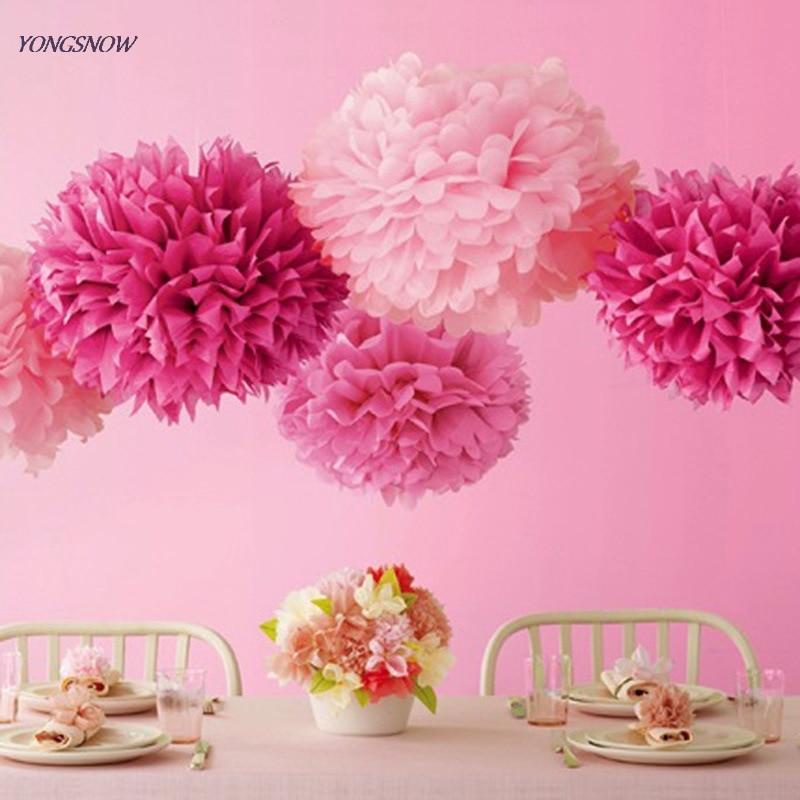 Us 049 11 Offhanging Tissue Paper Flower Decoration Pom Pom Rose Ball 15cm Garland Baby Shower Wedding Party Decoration Craft Diy Supplies In