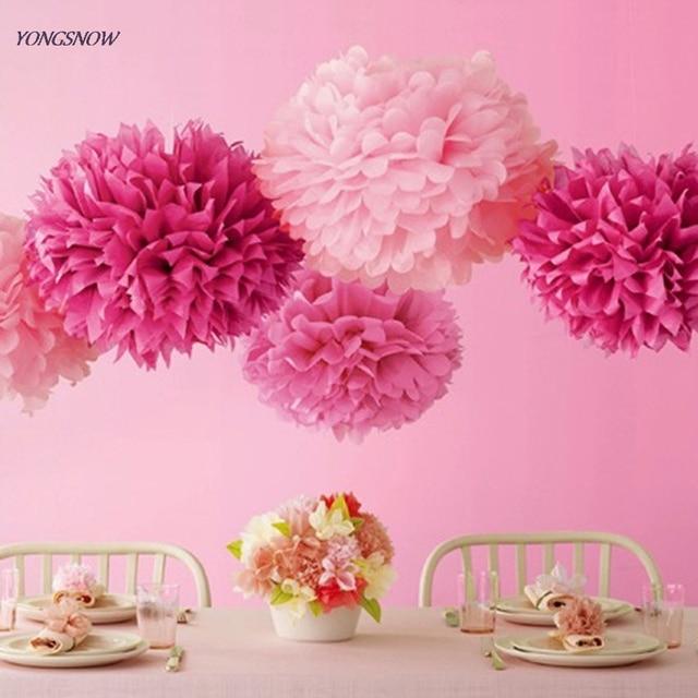Aliexpress Buy Hanging Tissue Paper Flower Decoration Pom Pom