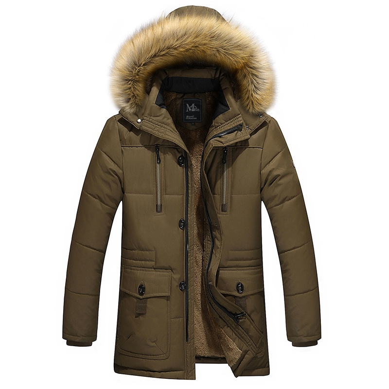 Outdoor Skiing Hiking Thicken Warm Winter Down Fur Collar Cotton Coats Mens Plus Velvet Hooded Winter Jackets for Male plus size winter women cotton coat new fashion hooded fur collar flocking thicker jackets loose fat mm warm outerwear okxgnz 800