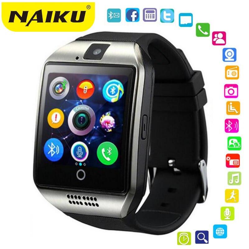 Bluetooth Montre Intelligente Hommes Q18 Avec Écran Tactile Grande Batterie Soutien TF Carte Sim Caméra pour Téléphone Android Smartwatch