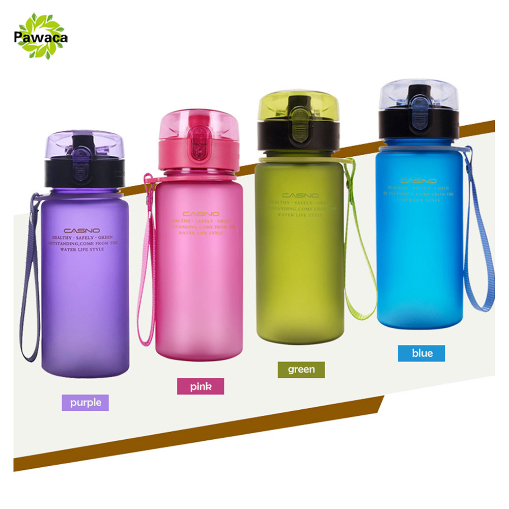 400ml Easy Carry BPA Free Sports Water Bottle High Quality Tour Hiking Portable My Favorite Bottles With Leak Proof Flip Top Lid