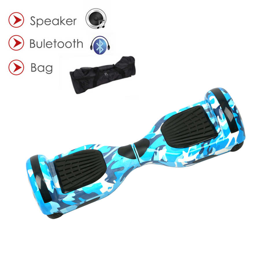 Hoverboard 6.5インチbluetooth二輪スマート自己均衡スクーター電動スケートボードでスピーカーbluetooth giroskuter