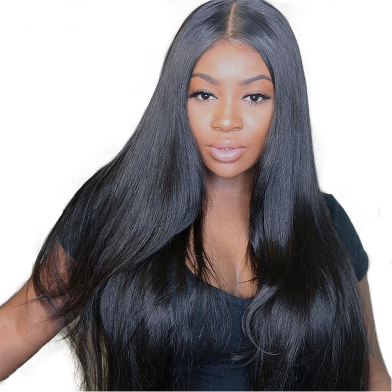 Silk Base Full Lace Human Hair Wigs For Women 180% Straight Full Lace Wigs Pre Plucked Brazilian Hair Wigs Sunny Queen Remy