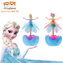 Fever Cheap Flying Fairies Doll Princess Elsa Toys With Music Lighting Remote Control Interactive Toys for Kids Girls Best Gifts
