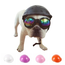 Dog Helmets for Motorcycles Cool ABS Fashion Pet Dog Hat Helmet Plastic Pet Protect Ridding Cap SML