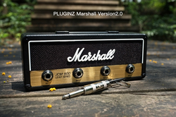 1 pçs marshall jack chave titular rock guitarra elétrica alto-falante chave pendurado gancho chaveiro de armazenamento do vintage jcm800 bala