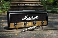 1 piezas Marshall Jack clave Rock guitarra eléctrica orador clave colgante gancho clave de almacenamiento llavero Vintage JCM800 bala