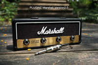 1PCS Marshall Jack Key Holder Rock Electric Guitar speaker key hanging Key hook Storage Keychain Vintage JCM800 BULLET