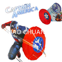 11 Inches NEW Avengers Superhero Captain America Emission Shield Red Cosplay Kids Gift Toy RETAIL BOX