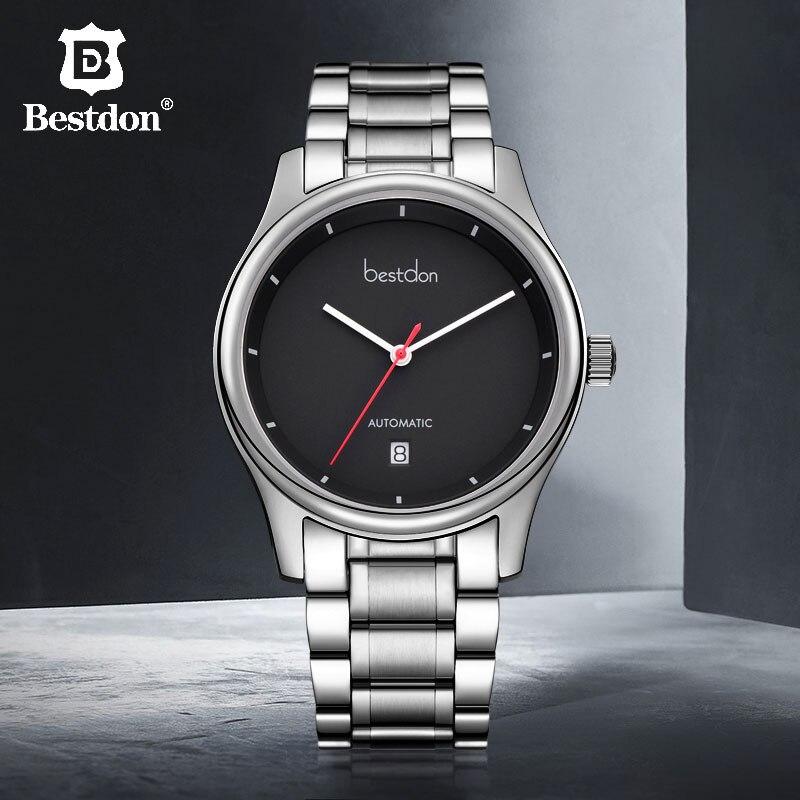 ddf0f50f6f1 Bestdon Homens Relógio Mecânico Clássico Starking Parnis Safira Automático  Esporte relógios de Pulso Homem Relógio Marca