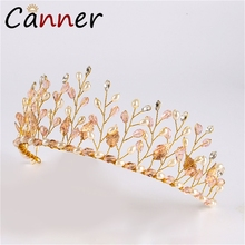 CANNER Romantic Baroque Headband Crown Crystal/Rhinestone Tiaras And Crowns Wedding Hair Accessories Bridal Crown Diadem FI baroque pink rhinestone pearl bridal crowns handmade tiara headband crystal wedding diadem queen crown wedding hair accessories