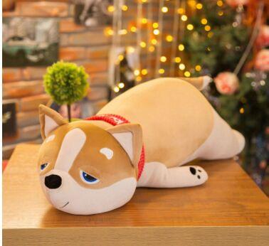 Grand 80 cm beau chien en peluche jouet Shiba Inu doux coton poupée jeter oreiller cadeau de noël b2898