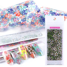 Clear Nail Art Transfer Foil Stickers Lace Cute Flower Starry Paper DIY 100*4cm Polish Wraps Nail Decoration Decals SA787-1(China)