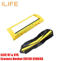 2pcs Original Main Brush Main Roller Middle Brush Cover ILIFE V7 V7S Ecovacs Deebot CR130 CEN640