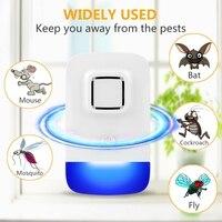 새로운 전기 초음파 마우스 구충제 모기 방충제 비 독성 침묵 곤충 안티 모기 박쥐 바퀴벌레 플라이 트랩