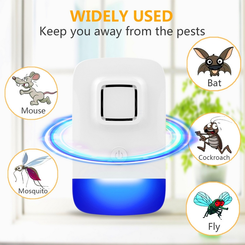 New Electric Ultrasonic Mouse Repellent Mosquito Bat Repellent Non-toxic Silent Insect Anti Mosquito Bat Cockroach Fly Trap