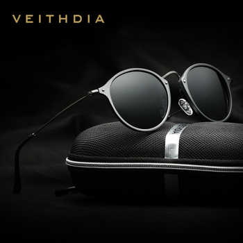 VEITHDIA Brand Fashion Unisex Sun Glasses Polarized Coating Mirror Driving Sunglasses Round Male Eyewear For Men/Women 6358 - Category 🛒 Apparel Accessories