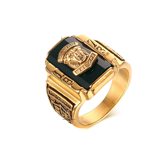 New Style Vintage Mens Stainless Steel Gold Plated Walton