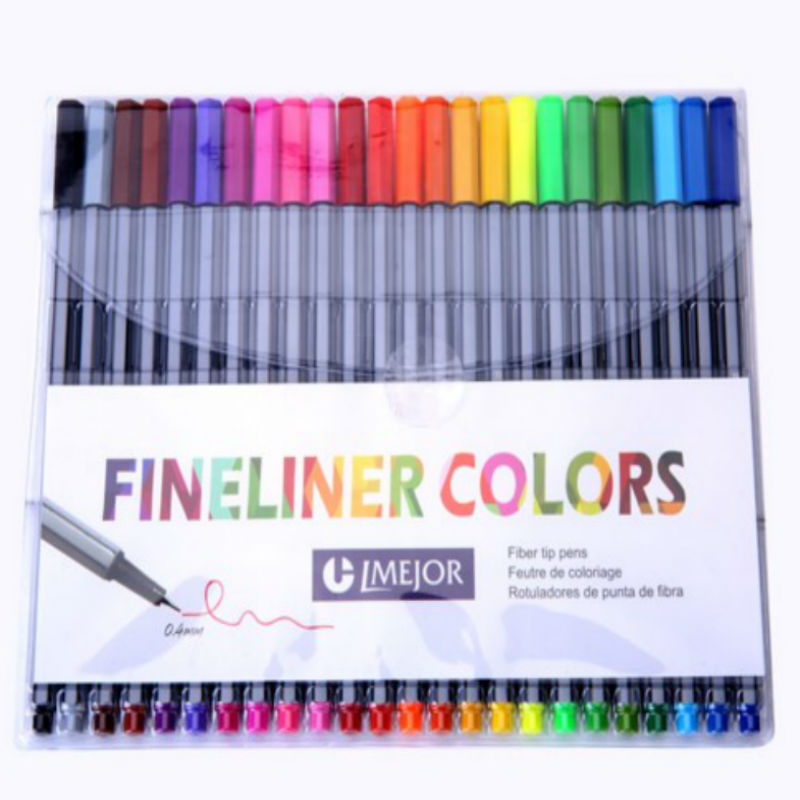 0.4 Mm 24 Colors Fineliner Pens Marco Super Fine Draw Marker Pen Water Based Assorted Ink No-tox Material Point 88 цена