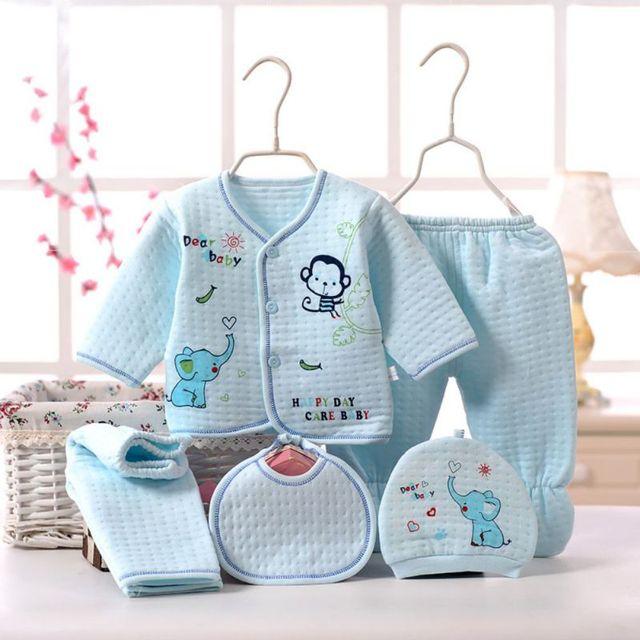 0b8eb339e733 China 5pcs set Newborn Baby 0 3M Clothing Set Baby Boy Girl Clothes ...