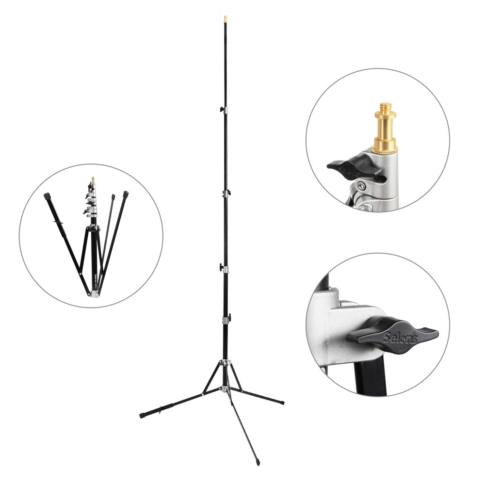 240cm Photography Light Stand Studio Photo Stand Photo Studio Aluminum Reverse Folding photographic Light Stand Tripod