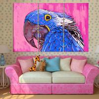 3pcs Set Lovely Bird Canvas Painting Art Print Poster Wall Pictures For Child Room Decoration Print