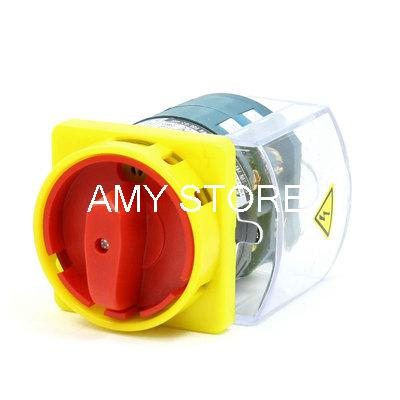 цена на AC 500V 40A Latching 2 Position Cam Combination Changeover Switch w Clear Case