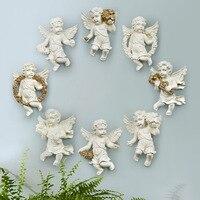 Européenne Ameublement artisanat creative fond décoration murale Ange stéréo de résine décoration