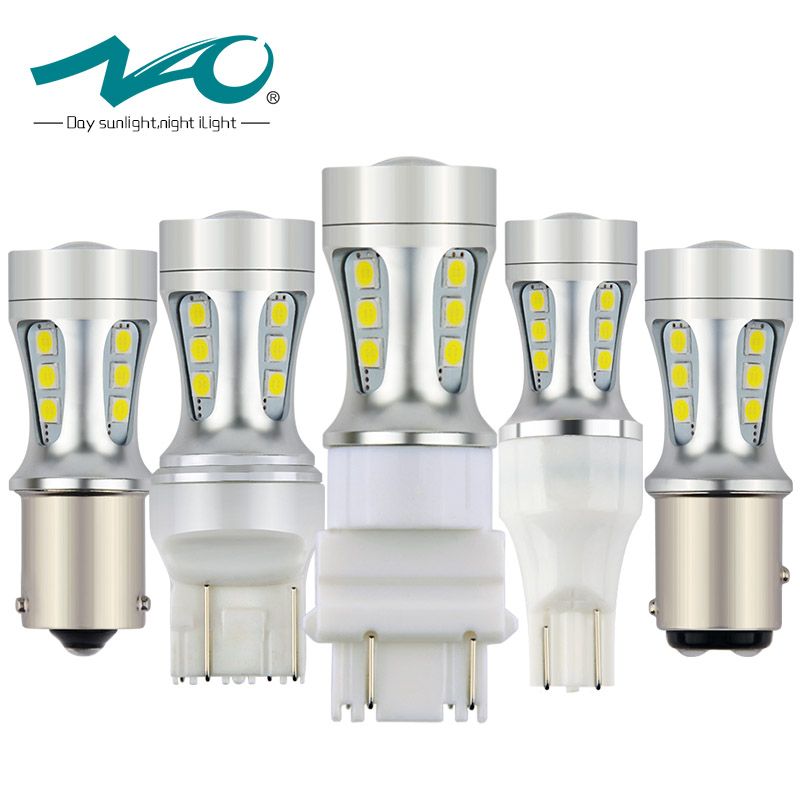 NAO 2x P21W LED Bulb T20 PY21W W21W W16W T15 7443 W21/5W 7440 BAU15S Car Light T25 ba15s bay15d DRL Auto Lamp 12V Turn Signal 2x white red yellow 30w cree chips t20 7440 w21w led bulbs for auto car moto reverse lights backup drl lights bulb 12v dc