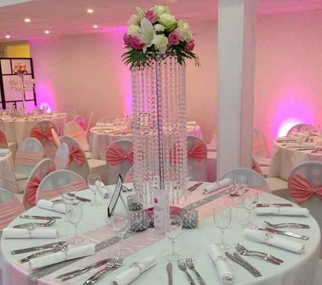 10PCS Lot Acrylic Crystal Wedding Centerpiece 70cm Tall Flower Stand Table Decor