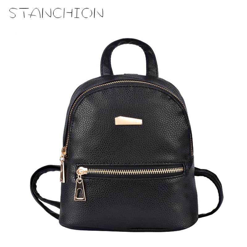 STANCHION New Small Fashion Rucksack Women Shopping Purse Ladies Joker Bookbag Travel Bag Student School Backpacks