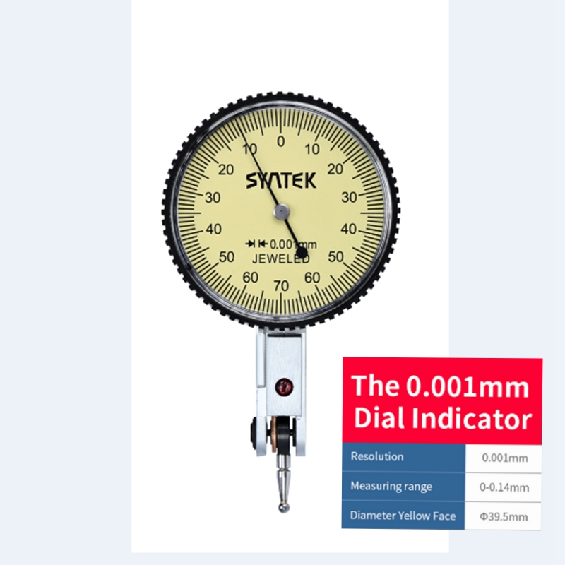 0.001mm Lever Indicator Analog Display Shockproof Dial Test 0-0.14mm Dial Indicator Gauge Meter Diameter 39.5mm Mini Micrometer0.001mm Lever Indicator Analog Display Shockproof Dial Test 0-0.14mm Dial Indicator Gauge Meter Diameter 39.5mm Mini Micrometer