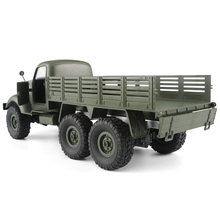 1/16 6WD Off-Road Auto Militaire Truck Radiogestuurde Crawler RC Auto Afstandsbediening Speelgoed Kids zoon aanwezig