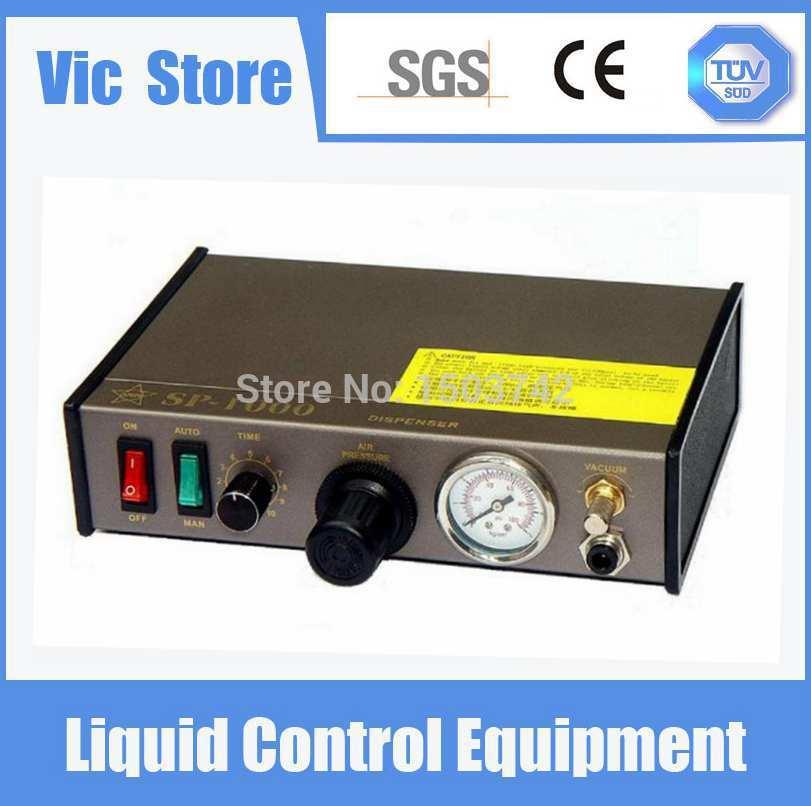 Il trasporto Libero 220 V Auto Glue Dispenser Solder Paste Liquid Controller Dropper SP1000 Macchina di Erogazione