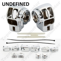 UNDEFINED Motorbike Accessories Chrome Handlebar Switch Housing Cover+10 Cap For Harley Street Glide Road Glide CVO Limited