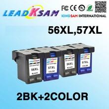 4х совместимый чернильный картридж, совместимый с hp56 57 для 56XL 57XL Photosmart 7550 7660 7660v 7660w