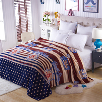 New Warm Blanket Soft Blanket On Bed Cartoon Coral Fleece Warm Throw Blankets Travel Blanket Without