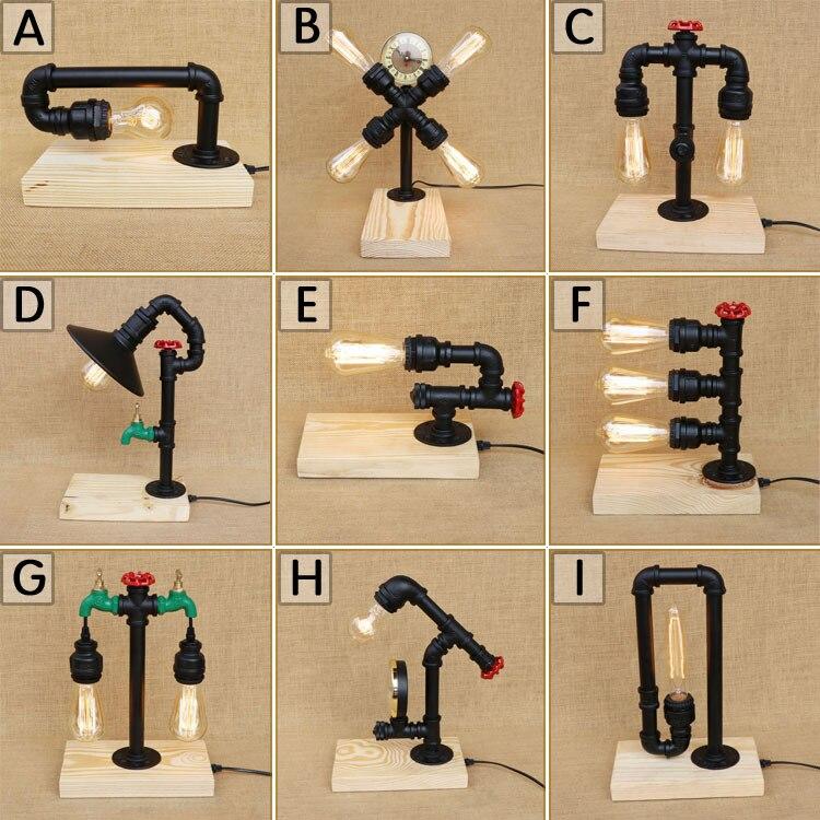 Moderne Stijl Houten Wijnfles Bureaulamp Voor Restaurant Cafe Bar
