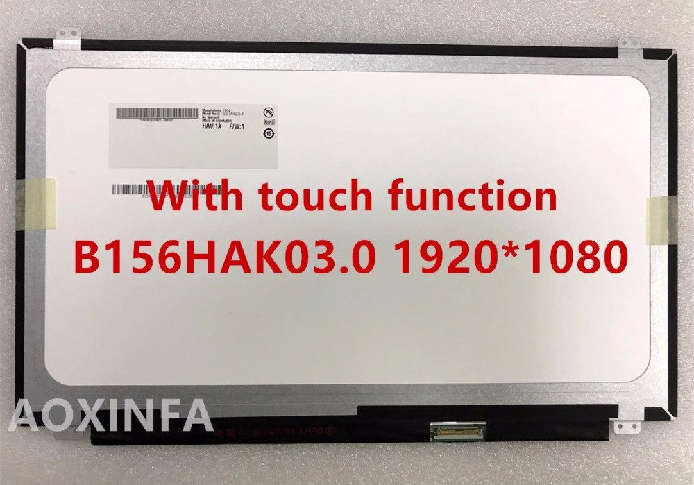 """B156HAK03.0 LED LCD Touch Screen 15.6"""" FHD 1080P Display (Touch) New H/W:1A"""