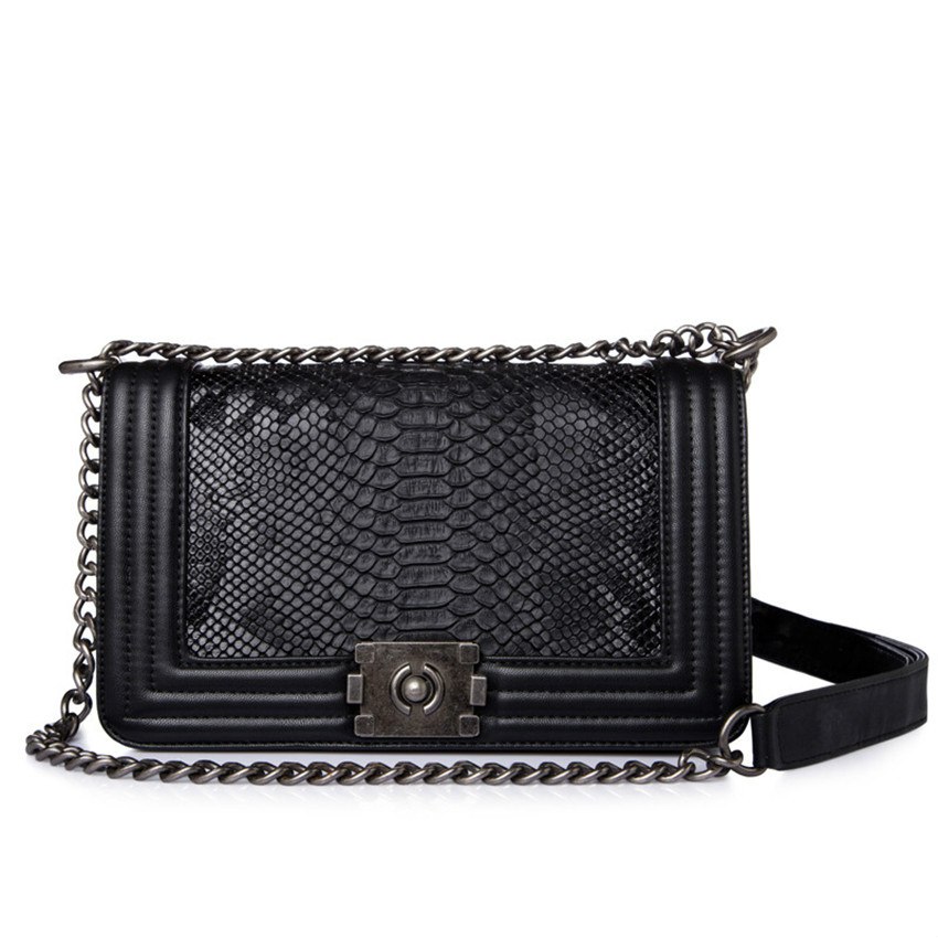 Luxury Woman Crossbody Bag Totes PU Leather Chain Shoulder Handbag