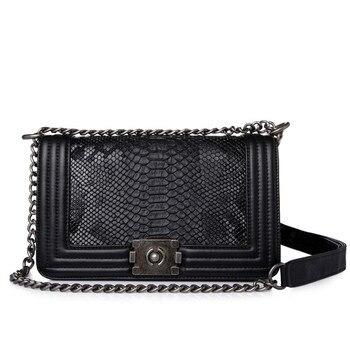 Brand Fashion Woman Crossbody Bag Promotional Ladies Totes luxury PU Leather Handbag Chain Shoulder Bag Plaid Women Bag