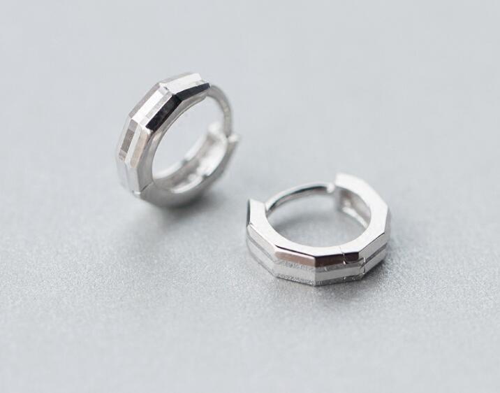 Small Tinny Diameter 10mm 100% Authentic Real 100% 925 Sterling Silver fine Jewelry Geometric Hoop Huggie Earrings GTLE2368
