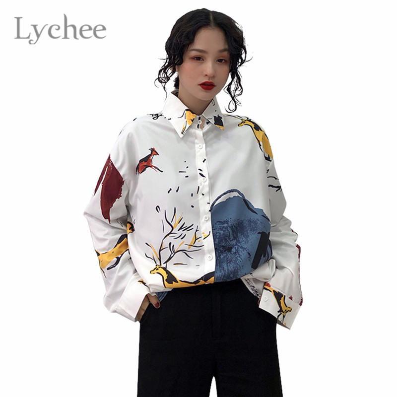 2018 Embroidery Long Sleeve Women Blouses Lattice Shirts Female Ladies Tops Casual Shirt Tops Loose Blusas Camisas Mujer P273 Blouses & Shirts