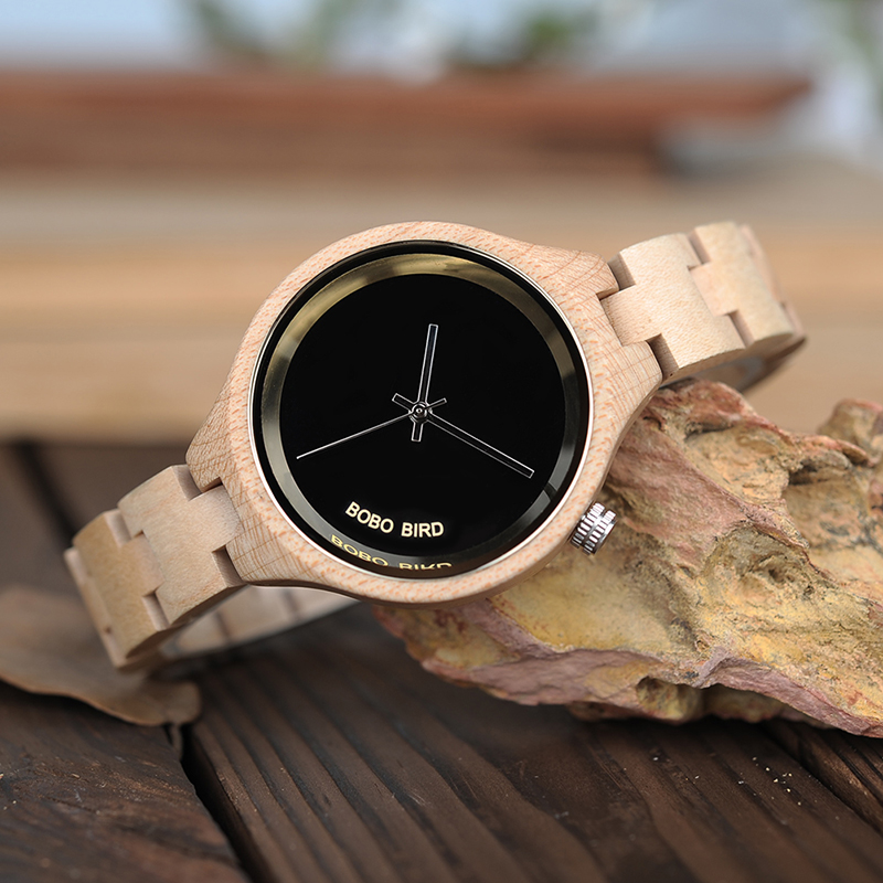 Women's Minimalist Wooden Watch