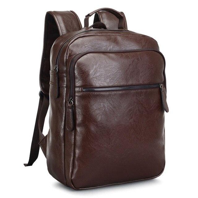 1f984395d 2019 de los hombres de cuero mochila de gran capacidad hombre bolsas de  viaje de alta