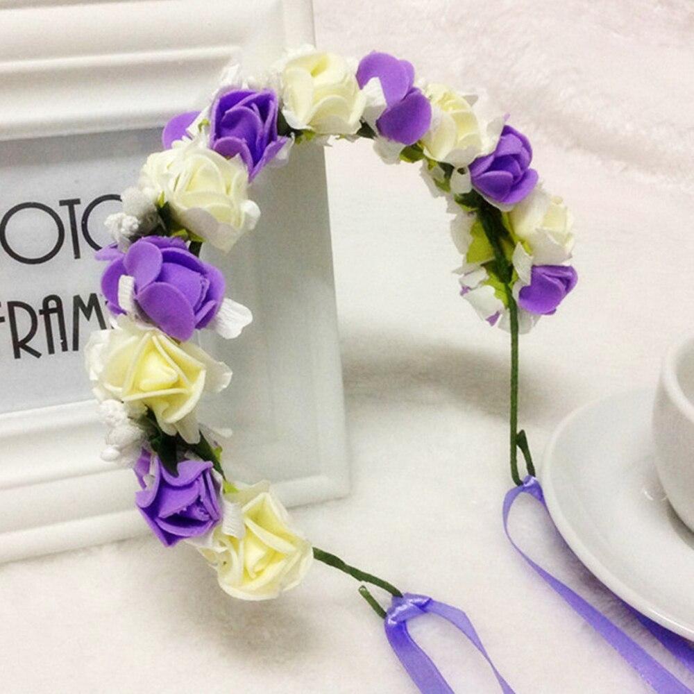 2019 New Girls Wedding Flower Headband   Headwear   Children Headbands Hair Accessories Bride Wreath Wedding Party Beach Garland