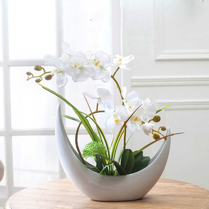 Kunstbloemen Fake Phalaenopsis Zijde Bloem Mode Vlinder Orchidee Boeket Party Decor Bruiloft Home Decoratie 1 Pcs