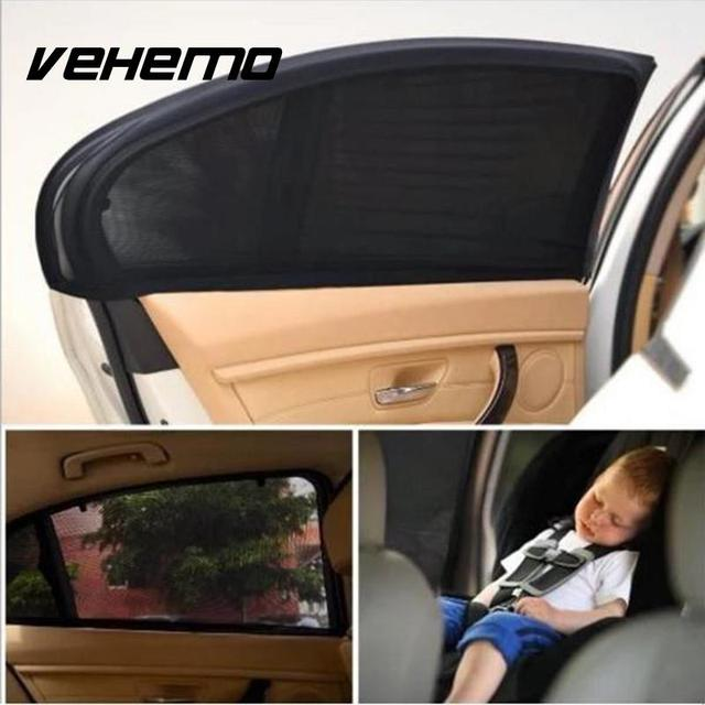 Car Window Curtain Solar Mosquito Dust UV Protection (2Pcs)